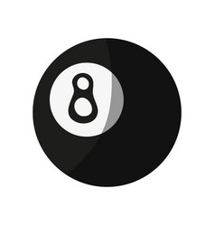 Pool eight ball icon image vector