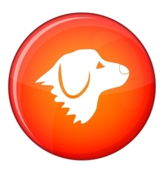 Retriever dog icon flat style vector