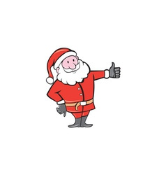 Santa claus father christmas thumbs up cartoon vector