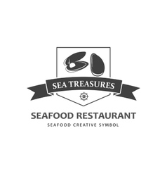 Seafood logo template vector image vector image