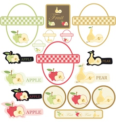set of label fruit vector image vector image