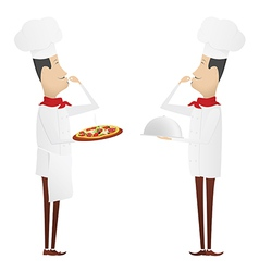 Set of two gourmet chefs vector image