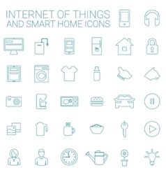 Smart Home And Internet Of Things Icon Set vector image vector image
