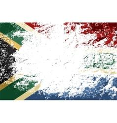 South africa flag grunge background vector
