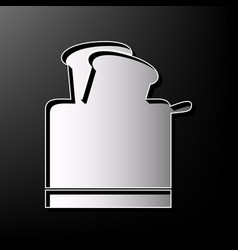 Toaster simple sign gray 3d printed icon vector