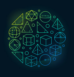 trigonometry and geometry colorful vector image vector image
