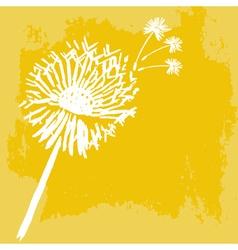 Watercolor graphic dandelion vector