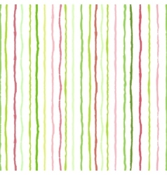 Watercolor stripes strokes seamless pattern vector image