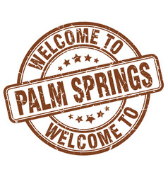 Welcome to palm springs vector
