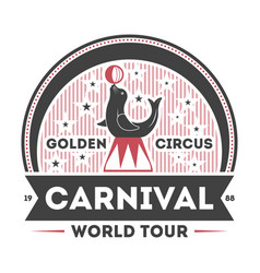 world carnival tour vintage isolated symbol vector image
