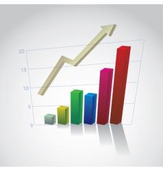 Rising Bar Graph vector image