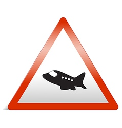 A traffic sign of airplane vector