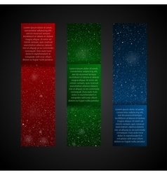 Set Vertical RGB Banners New Year Christmas vector image