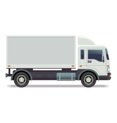 Small truck van isolated on white vector image