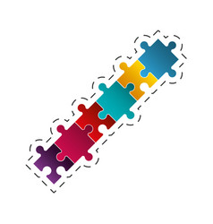 Puzzle jigsaw solution image vector