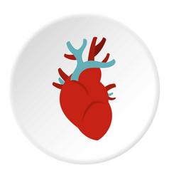 Heart icon circle vector