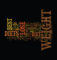 The best diets to lose weight text background vector