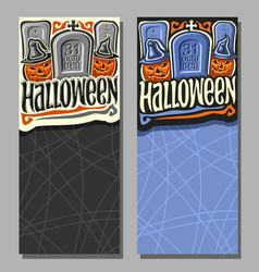 Vertical banners for halloween vector