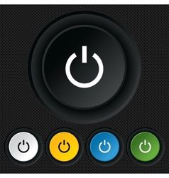 Power sign icon switch on symbol vector