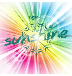 Abstract shiny background with sun flare vector
