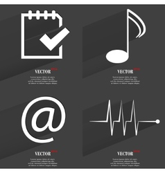 Set of icons collection symbols modern flat web vector