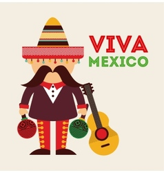 Mexican icon design vector