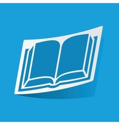 Book sticker vector