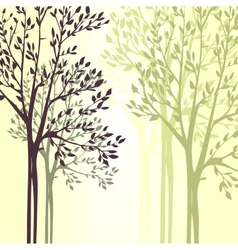 Background with spring trees vector