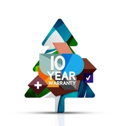 Christmas sale 10 year warranty label holiday vector