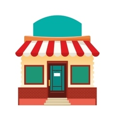 Colorful store facade icon vector