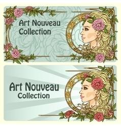 Art Nouveau background vector image vector image