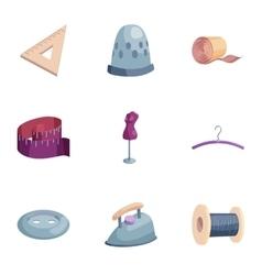 Atelie icons set cartoon style vector