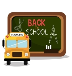 back to school bus and board design vector image
