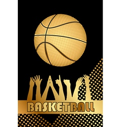 Black and gold basketball background vector