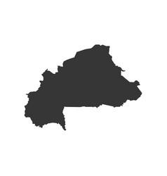 Burkina faso map silhouette vector