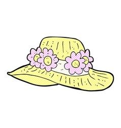 Comic cartoon summer hat vector