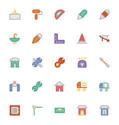 Construction icons 9 vector