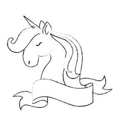 cute unicorn cartoon vector image vector image