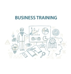 Doodle style design concept of business training vector