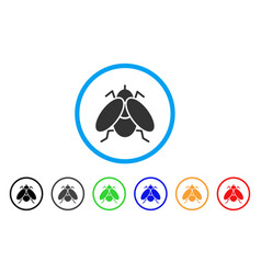 Fly insect rounded icon vector
