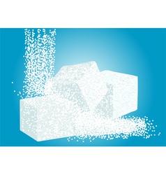 Granulated sugar and lump sugar vector
