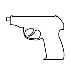 hand gun black color icon vector image