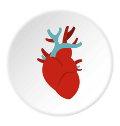 Heart icon circle vector