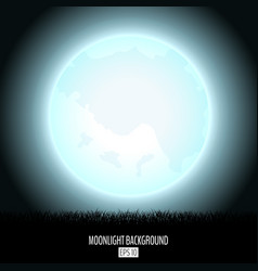 midnight fool moonlight abstract background with vector image vector image