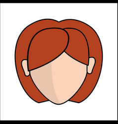 People avatar face women icon vector