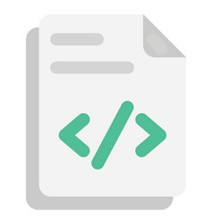 Php file flat icon vector