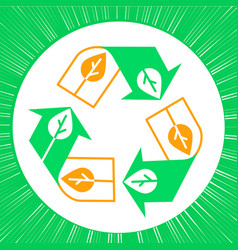 recycle sign environment vector image vector image