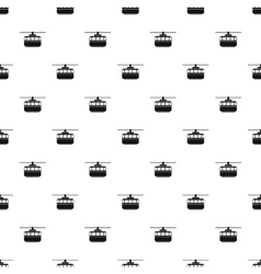 Ski lift pattern simple style vector image