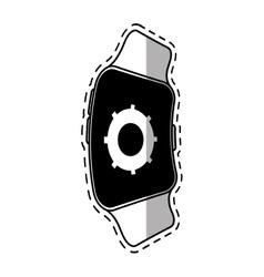 Smart watch gear app wearable technology shadow vector