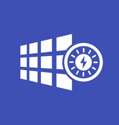 solar panel energy icon vector image vector image